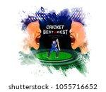 cricket championship concept... | Shutterstock .eps vector #1055716652