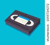 video cassette tape   Shutterstock .eps vector #1055724272