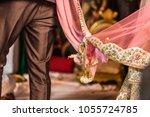 wedding knot in hindu religions | Shutterstock . vector #1055724785