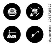construction tools glyph icons... | Shutterstock .eps vector #1055725922