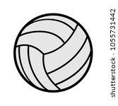 volleyball symbol design | Shutterstock .eps vector #1055731442