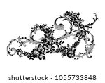 lace flowers decoration element | Shutterstock .eps vector #1055733848