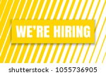 we are hiring job employee... | Shutterstock .eps vector #1055736905