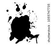 abstract black ink blot... | Shutterstock .eps vector #1055747735