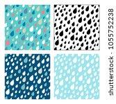 vector seamless patterns of... | Shutterstock .eps vector #1055752238