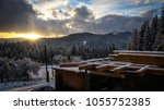 white winter in the mountains | Shutterstock . vector #1055752385