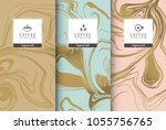 cup of coffee set pattern of... | Shutterstock .eps vector #1055756765