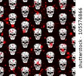 seamless pattern with skulls | Shutterstock .eps vector #105576866