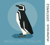 flat magellanic penguin | Shutterstock .eps vector #1055769812