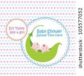 baby arrival announcement card  ... | Shutterstock .eps vector #105577052