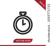 pocket watch icon vector | Shutterstock .eps vector #1055771732