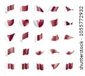 qatar flag  vector illustration | Shutterstock .eps vector #1055772932