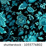 seamless pattern with fantasy...   Shutterstock .eps vector #1055776802
