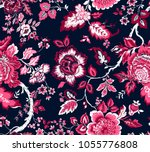 seamless pattern with fantasy... | Shutterstock .eps vector #1055776808