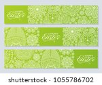 happy easter background. good... | Shutterstock .eps vector #1055786702