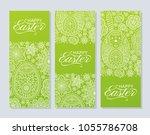 happy easter background. good... | Shutterstock .eps vector #1055786708
