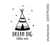 dream big little one... | Shutterstock .eps vector #1055792342
