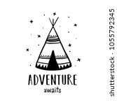 adventure awaits scandinavian... | Shutterstock .eps vector #1055792345