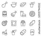 thin line icon set   sausage... | Shutterstock .eps vector #1055794532