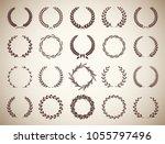 set of twenty circular vintage... | Shutterstock .eps vector #1055797496