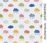 scandinavian style hand drawn... | Shutterstock .eps vector #1055805902