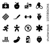 solid vector icon set   doctor... | Shutterstock .eps vector #1055806346