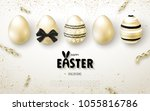 happy easter background with... | Shutterstock .eps vector #1055816786