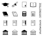 set of education icons.... | Shutterstock .eps vector #1055827532