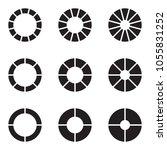 set of black and white modern... | Shutterstock .eps vector #1055831252
