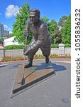Small photo of OTTAWA, CANADA - JUL. 1, 2011: Statue of Maurice Richard at Jacques Cartier Park in Gatineau, Ottawa, Canada.