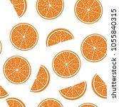 seamless pattern from cut half... | Shutterstock .eps vector #1055840315