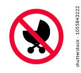 red prohibition no baby... | Shutterstock .eps vector #1055843222