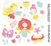 vector clip art set of... | Shutterstock .eps vector #1055843786