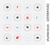 set of 16 editable climate... | Shutterstock .eps vector #1055844182