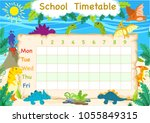 the timetable is the schedule... | Shutterstock .eps vector #1055849315