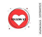 follow us round banner. vector... | Shutterstock .eps vector #1055849525