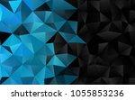 light blue vector blurry... | Shutterstock .eps vector #1055853236