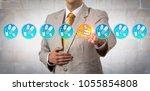 unrecognizable pharma marketer... | Shutterstock . vector #1055854808