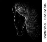 the vector horse for t shirt... | Shutterstock .eps vector #1055855486