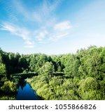 autumn forest evening....   Shutterstock . vector #1055866826