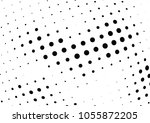 abstract halftone wave dotted... | Shutterstock .eps vector #1055872205