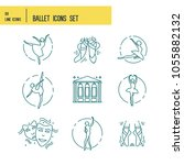 simple set of ballet vector... | Shutterstock .eps vector #1055882132