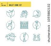 simple set of ballet vector...