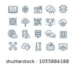 cloud computing. internet... | Shutterstock .eps vector #1055886188