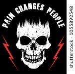 skull t shirt graphic design  | Shutterstock .eps vector #1055892548