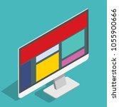 web design site technology... | Shutterstock .eps vector #1055900666