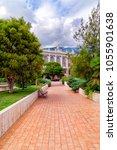 garden and casino of monte... | Shutterstock . vector #1055901638