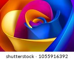 floristic colorful background.... | Shutterstock .eps vector #1055916392