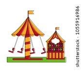 carnival fun fair festival... | Shutterstock .eps vector #1055916986
