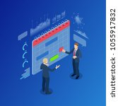 isometric modern people... | Shutterstock . vector #1055917832